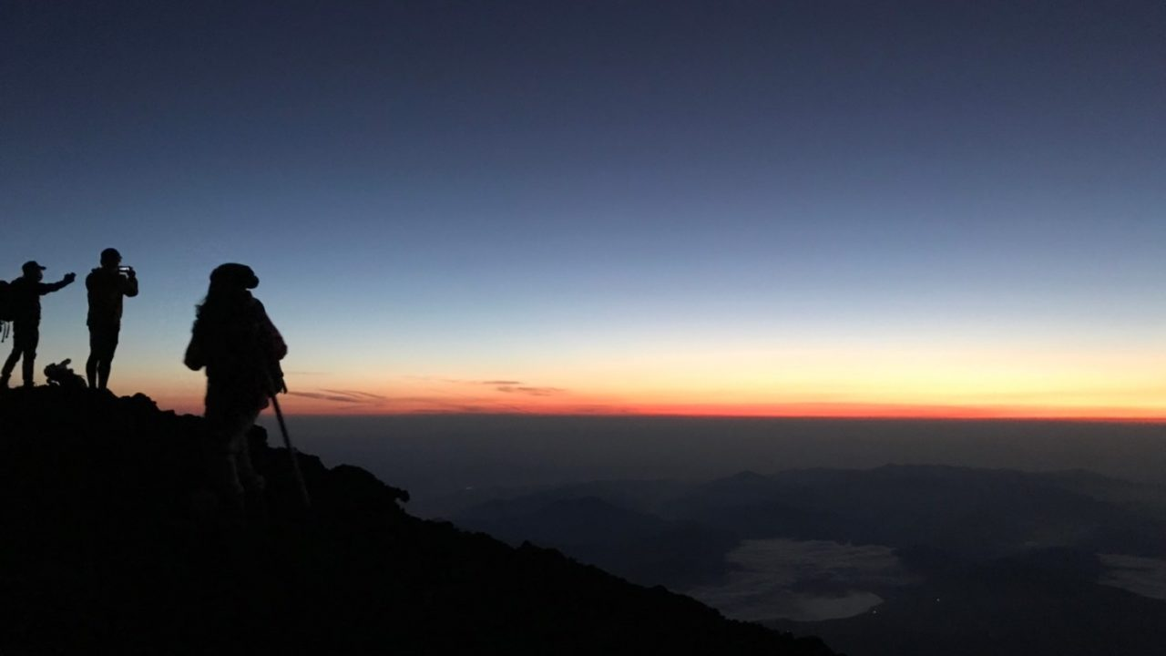 富士登山初登頂